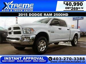 2015 Dodge Ram 2500HD Outdoorsman $269 B/W APPLY NOW DRIVE NOW