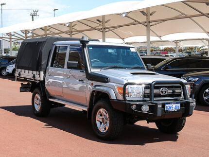 2016 Toyota Landcruiser VDJ79R MY12 Update GXL (4x4) Silver 5 Speed Manual Double Cab Chassis Jandakot Cockburn Area Preview
