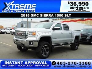2015 GMC SIERRA 1500 SLT LIFTED *INSTANT APPROVAL* $239/BW!