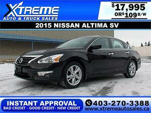 2015 Nissan Altima SV $109 bi-weekly APPLY NOW DRIVE NOW