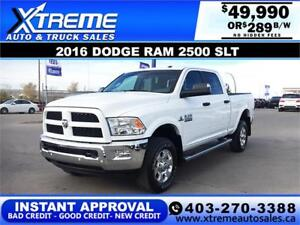 2016 RAM 2500 SLT CREW CAB *INSTANT APPROVAL* $0 DOWN $289/BW