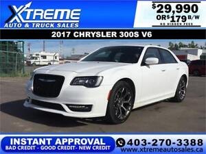 2017 CHRYSLER 300S V6 $179 B/W *$0 DOWN*APPLY NOW DRIVE NOW