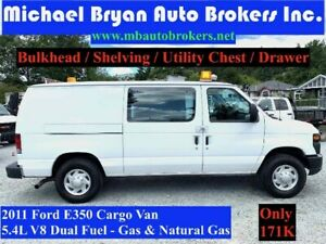 2011 FORD E350 CARGO VAN *DUAL FUEL SYSTEM* FULLY CERTIFIED