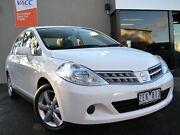 2012 Nissan Tiida C11 S4 ST White 4 Speed Automatic Sedan Fawkner Moreland Area Preview