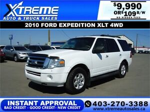 2010 FORD EXPEDITION XLT 4WD *INSTANT APPROVAL* $0 DOWN $109/BW!