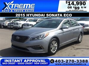 2015 Hyundai Sonata ECO $0 DOWN  $89 b/w APPLY NOW DRIVE NOW