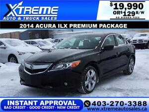 2014 ACURA ILX PREMIUM PACKAGE $129 B/W APPLY NOW DRIVE NOW