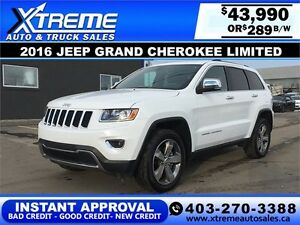 2016 Jeep Grand Cherokee Limited $289 b/w APPLY NOW DRIVE NOW