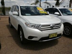 2013 Toyota Kluger GSU40R MY12 KX-R 2WD White 5 Speed Sports Automatic Wagon Mount Druitt Blacktown Area Preview