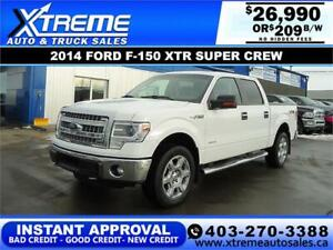 2014 FORD F-150 XTR SUPERCREW *INSTANT APPROVAL* $209/BW