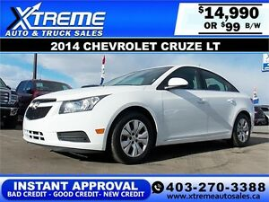 2014 Chevrolet Cruze TURBO $99 BI-WEEKLY APPLY NOW DRIVE NOW