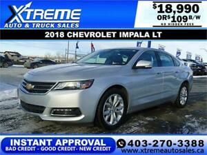 2018 CHEVROLET IMPALA LT $109 BI-WEEKLY APPLY NOW DRIVE NOW