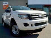 2013 Ford Ranger PX XL Double Cab 4x2 Hi-Rider White 6 Speed Sports Automatic Utility Fawkner Moreland Area Preview
