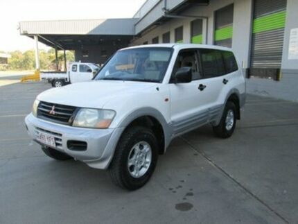 2001 Mitsubishi Pajero NM MY2002 GLS White 5 Speed Manual Wagon Archerfield Brisbane South West Preview