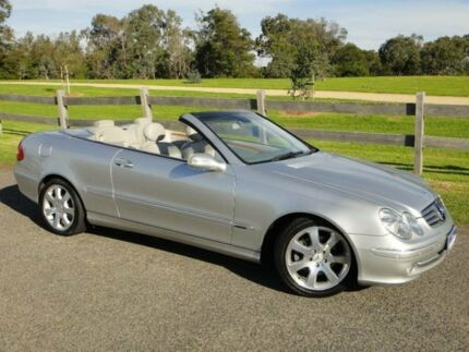 2003 Mercedes-Benz CLK320 A209 Elegance Silver 5 Speed Auto Touchshift Cabriolet