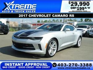 2017 CHEVROLET CAMARO RS *INSTANT APPROVAL* $0 DOWN $199/BW!