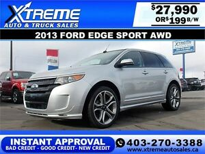 2013 Ford Edge SPORT AWD $199 BI-WEEKLY APPLY NOW DRIVE NOW