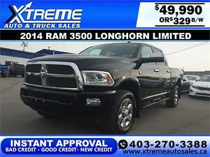 2014 Dodge Ram 3500 Longhorn Limited $329b/w APPLY NOW DRIVE NOW
