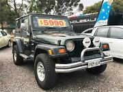 1998 Jeep Wrangler TJ Sport (4x4) Army Green 5 Speed Manual 4x4 Softtop Elizabeth West Playford Area Preview
