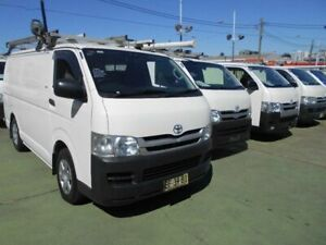 2010 Toyota HiAce KDH201R MY07 Upgrade LWB White 4 Speed Automatic Van