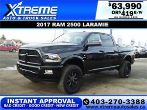 2017 RAM 2500 CREW CAB LIFTED *INSTANT APPROVAL $419/BW!