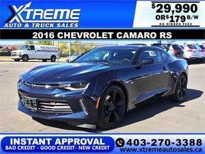 2016 CHEVROLET CAMARO RS $179 BI-WEEKLY APPLY NOW DRIVE NOW