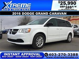 2016 Dodge Grand Caravan SXT $165 bi-weekly APPLY NOW DRIVE NOW