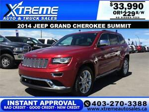 2014 Jeep Grand Cherokee Summit $229 b/w APPLY NOW DRIVE NOW