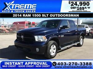 2014 RAM 1500 SLT OUTDOORSMAN *INSTANT APPROVAL $0 DOWN $169/BW
