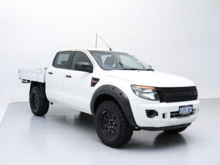 2012 Ford Ranger PX XL 3.2 (4x4) White 6 Speed Automatic Dual Cab Chassis Jandakot Cockburn Area Preview