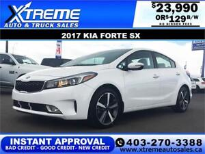 2017 Kia Forte SX $0 Down $129 b/w APPLY NOW DRIVE NOW