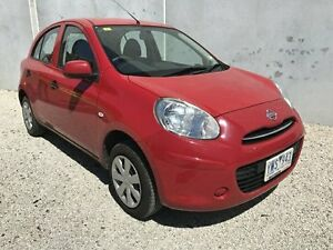 2011 Nissan Micra K13 ST Red 5 Speed Manual Hatchback Seaford Frankston Area Preview