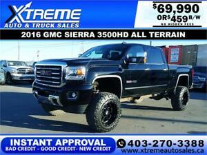 2016 GMC SIERRA ALL TERRAIN LIFTED *INSTANT APPROVAL $459/BW