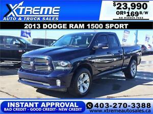 2013 Dodge Ram 1500 Sport $189 B/W APPLY NOW DRIVE NOW