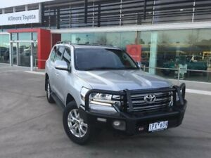 2017 Toyota Landcruiser VDJ200R MY16 VX (4x4) Silver Pearl 6 Speed Automatic Wagon Seymour Mitchell Area Preview