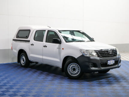 2012 Toyota Hilux TGN16R MY12 Workmate White 4 Speed Automatic Dual Cab Pickup