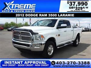 2012 DODGE RAM 3500 LARAMIE INSTANT APPROVAL* $0 DOWN $329/BW