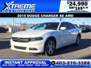 2015 DODGE CHARGER SE AWD $169 BI-WEEKLY *INSTANT APPROVAL*