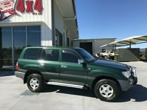 2002 Toyota Landcruiser HDJ100R GXL Green Automatic Wagon Bells Creek Caloundra Area Preview