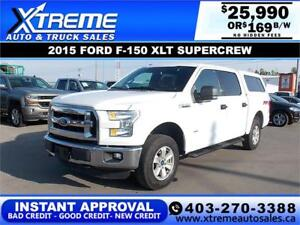 2015 FORD F-150 XLT SUPERCREW *INSTANT APPROVAL* $0 DOWN $169/BW