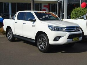 2018 Toyota Hilux GUN126R MY17 SR5 (4x4) White 6 Speed Automatic Dual Cab Utility South Nowra Nowra-Bomaderry Preview