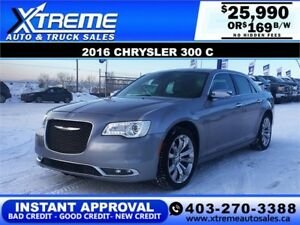 2016 CHRYSLER 300C $0 DOWN $169 B/W APPLY NOW DRIVE NOW