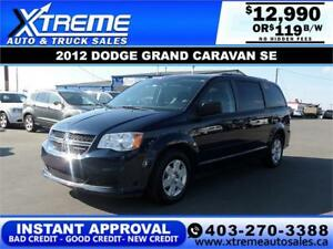 2012 DODGE GRAND CARAVAN SE $119 B/W $0 DOWN APPLY NOW DRIVE NOW