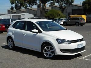 2010 Volkswagen Polo 6R MY11 66 TDI Comfortline White 7 Speed Automatic Hatchback Maidstone Maribyrnong Area Preview