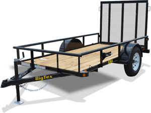BIG TEX 8' SINGLE AXLE UTILITY TRAILER