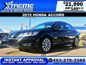 2015 Honda Accord $149 bi-weekly APPLY NOW DRIVE NOW