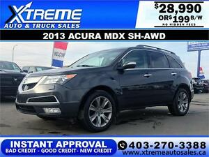2013 ACURA MDX SH-AWD $199 BI-WEEKLY APPLY NOW DRIVE NOW