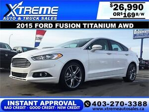 2015 Ford Fusion Titanium AWD $169 bi-weekly APPLY NOW DRIVE NOW