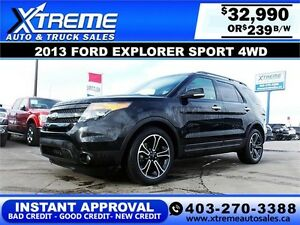 2013 Ford Explorer SPORT $239 BI-WEEKLY APPLY NOW DRIVE NOW
