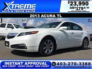 2013 Acura TL Tech Package $179 bi-weekly APPLY NOW DRIVE NOW